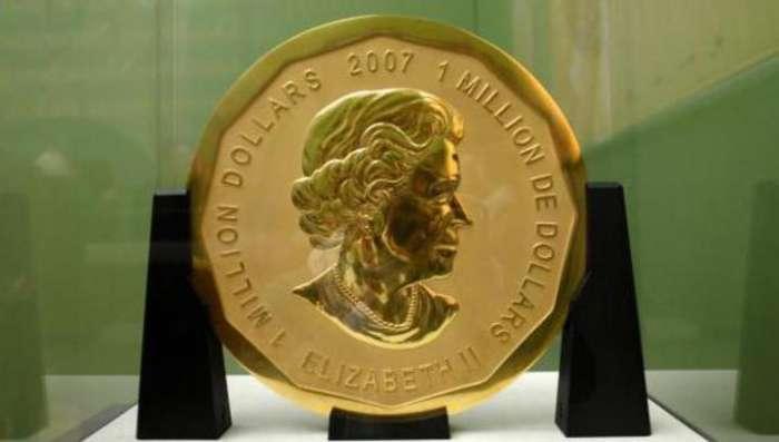 В Германии из музея украли золотую монету весом в 100 кг